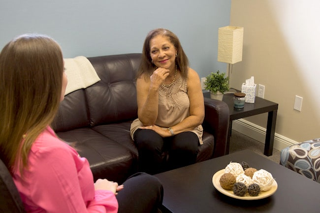 Therapist performing EMDR Therapy